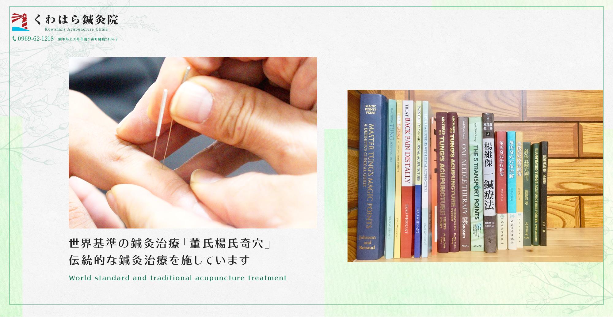 世界基準の鍼灸治療「董氏楊氏奇穴」 伝統的な鍼灸治療を施しています
